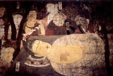 Monte Kōya. Museo (Reihōkan): morte del Buddha