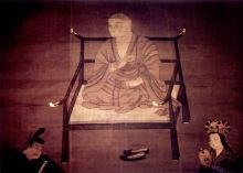 Monte Kōya. Kōbō Daishi in meditazione
